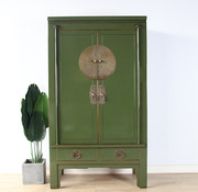 Yajutang Chinese wedding cabinet 2 olive-green