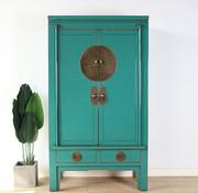 Yajutang Chinese wedding cabinet 2 turquoise
