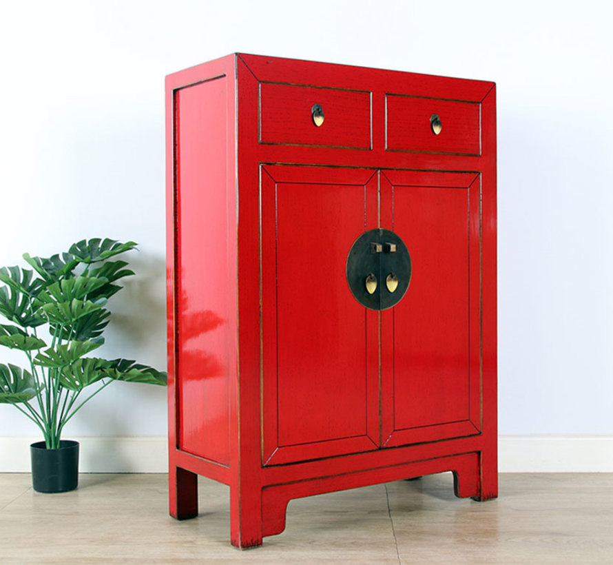 Chinese chest of drawers Oriental / Asian style red