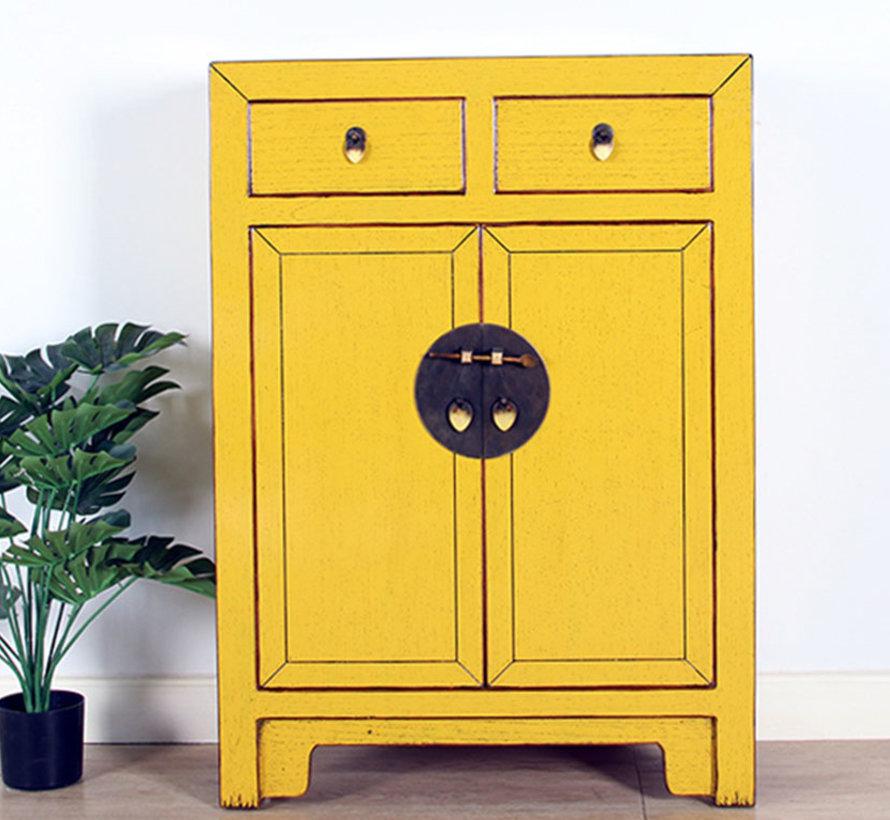 chinesische Kommode Orientalisch/Asiatisch Stil gelb