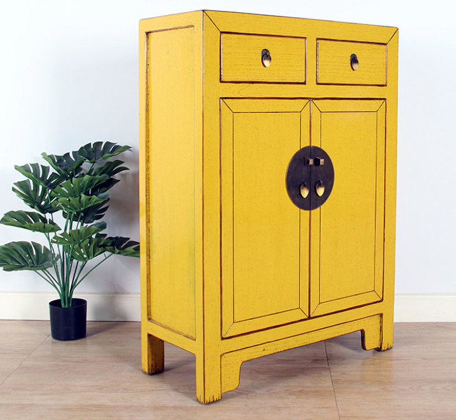 Chinese chest of drawers Oriental / Asian style yellow