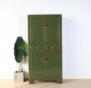 Yajutang Chinese dresser wedding cabinet olive green