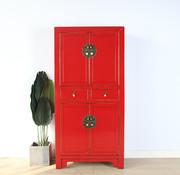 Yajutang Chinese dresser wedding cabinet red
