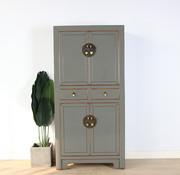 Yajutang Chinese dresser wedding cabinet gray
