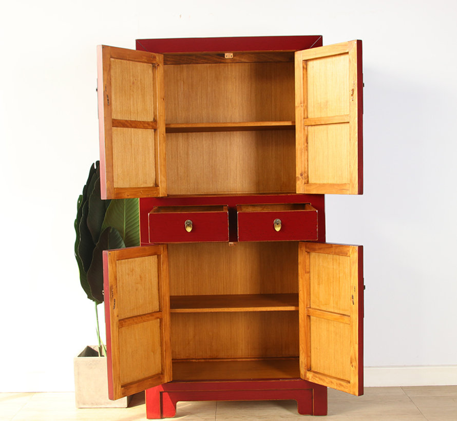 Chinese dresser wedding cabinet solid wood purple red