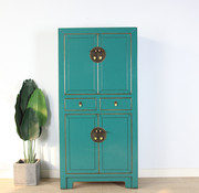 Yajutang Chinese dresser wedding cabinet turquoise