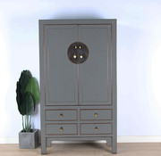 Yajutang Chinese wedding cabinet gray