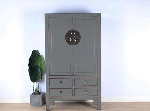 Yajutang Chinese wedding cabinet gray