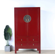 Yajutang Chinese wedding cabinet purple red