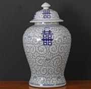 Yajutang Porcelain lid vase Double happiness