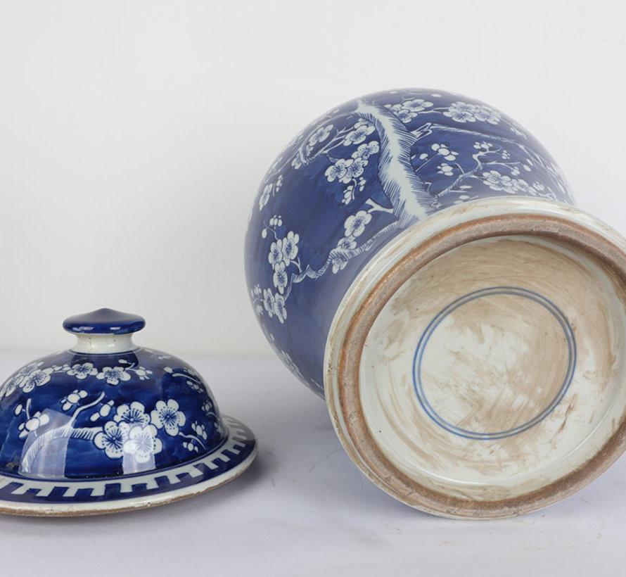 Chinese porcelain lidded vase 35 cm high Ø 22cm