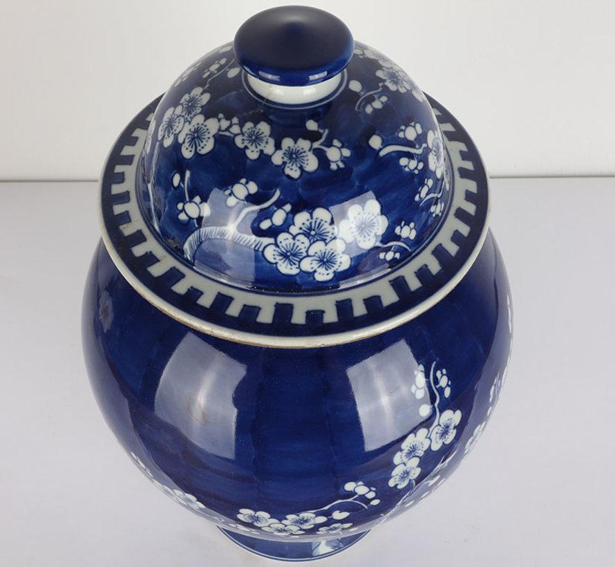 Chinesische Porzellan Deckelvase 35 cm hoch Ø 22cm
