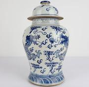 Yajutang Chinese Porcelain Lid Vase dragon
