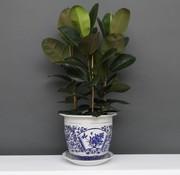 Yajutang Flowerpot blue-white with peony Ø 33cm