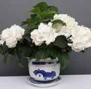 Yajutang Blumentopf Blau-Weiß mit Landschaft Ø33
