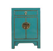 Yajutang Chinese bedside cabinet turquoise