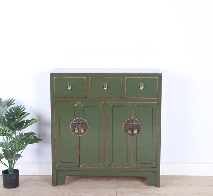 chinesische Kommode 25 cm Tief Orientalisch/Asiatisch Stil olivgrün
