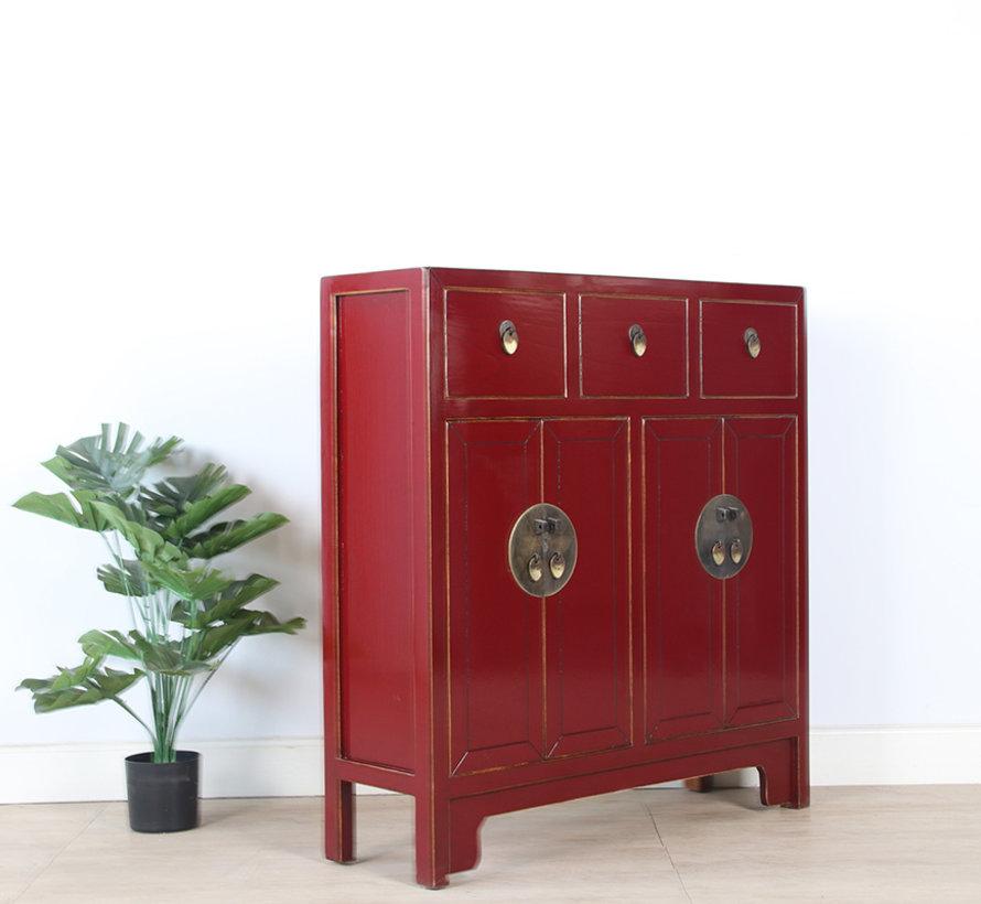 chinesische Kommode 25 cm Tief Orientalisch/Asiatisch Stil purpurrot