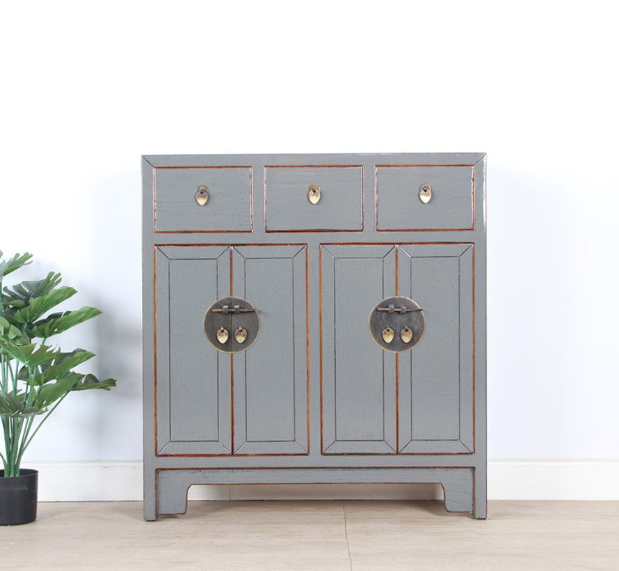 Chinese dresser 25 cm Deep Oriental / Asian style gray
