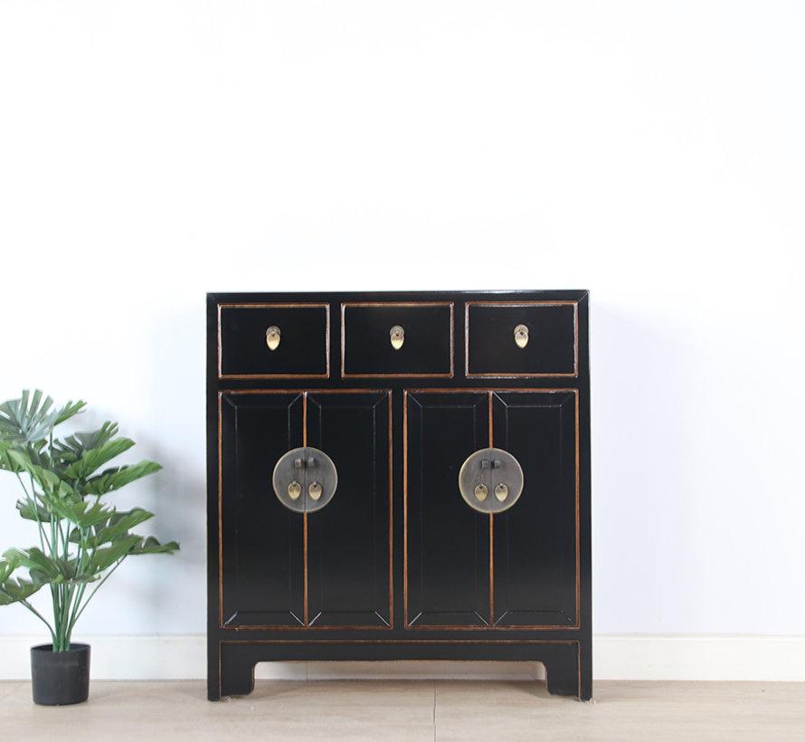 chinesische Kommode 25 cm Tief Orientalisch/Asiatisch Stil schwarz