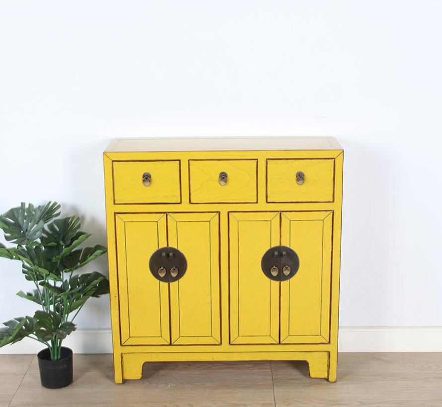 chinesische Kommode 25 cm Tief Orientalisch/Asiatisch Stil gelb