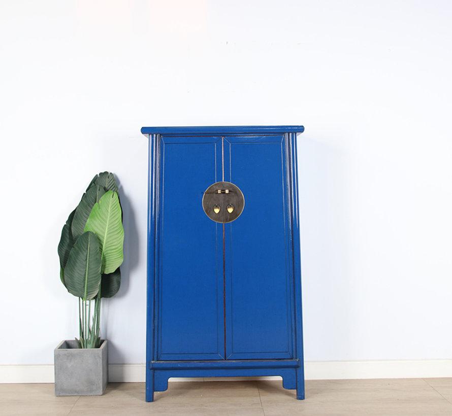 Chinesischer Hochzeitschrank  Schrank 2 Türen blau