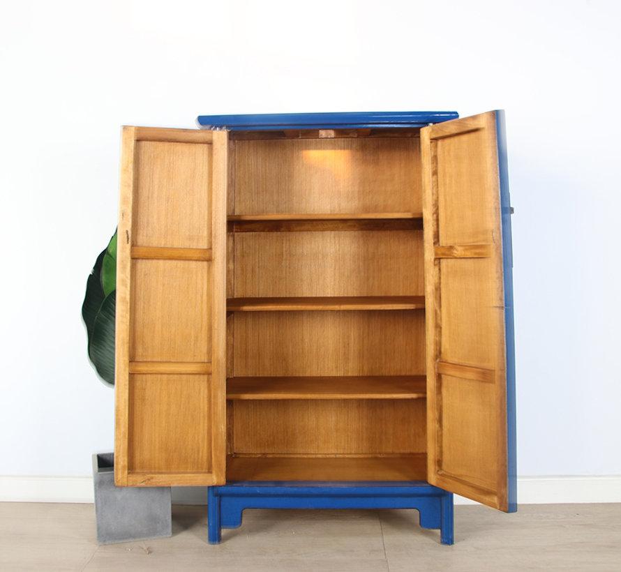 Chinese wedding cabinet 2 doors blue