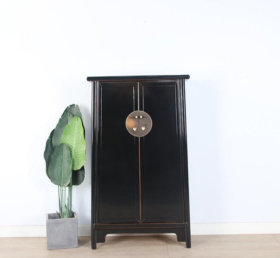 Chinesischer Hochzeitschrank Schrank 2 Türen schwarz