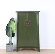 Yajutang Wedding cabinet 2 doors oliv green