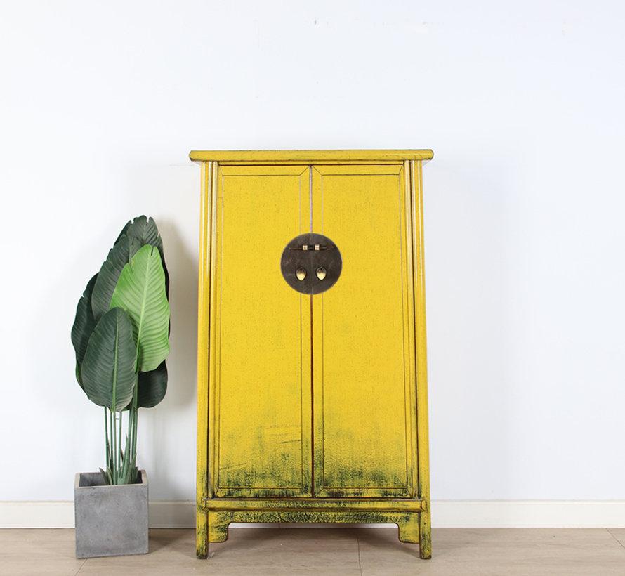 Chinese wedding cabinet 2 doors yellow