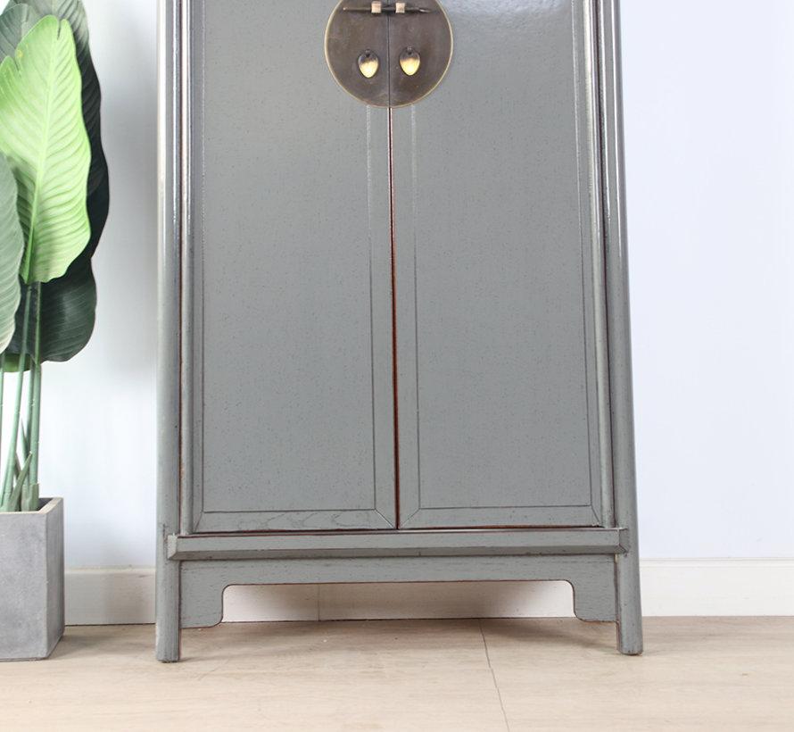 Chinese wedding cabinet 2 doors gray