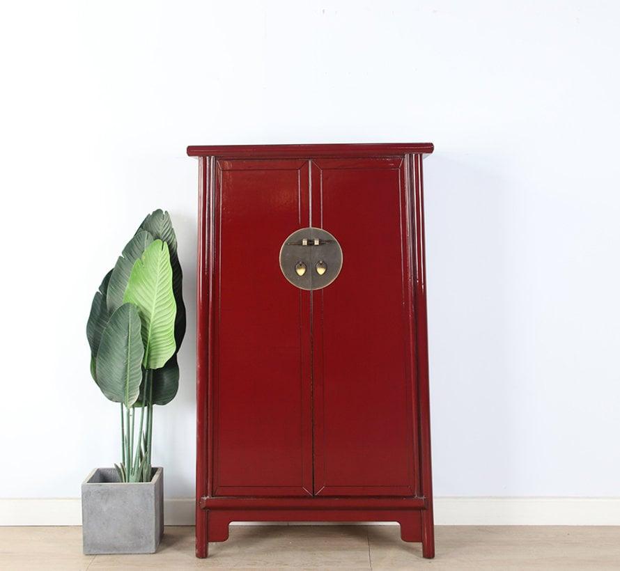 Chinese wedding cabinet 2 doors purple red