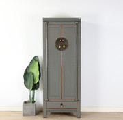 Yajutang Chinese wedding cabinet 2 doors closet gray
