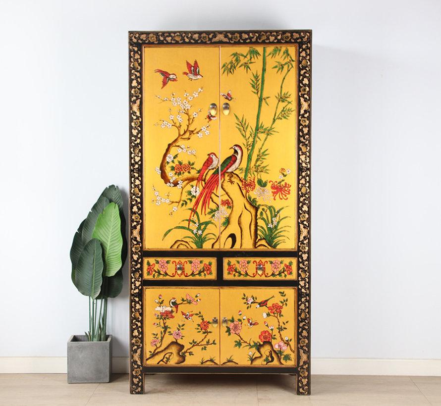 Wedding cabinet hand painted  Phönix luckyblack gold
