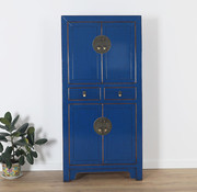 Yajutang Chinese dresser wedding cabinet blue