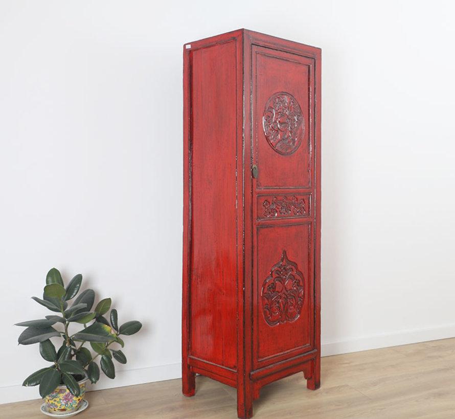 Chinesischer Hochzeitsschrank  Massivholz rot