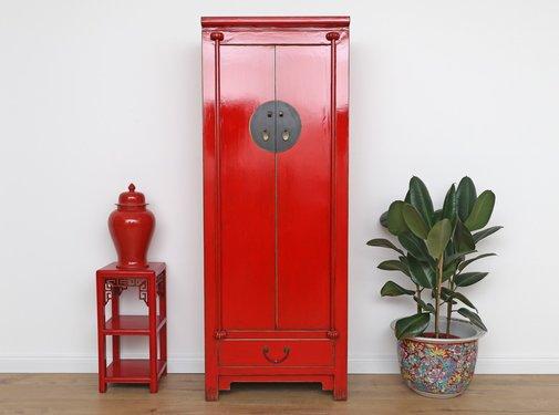 Yajutang Chinese wedding cabinet  red