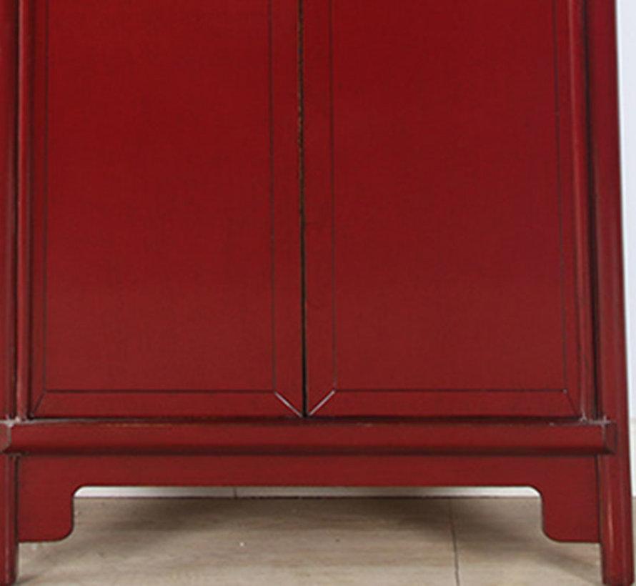 Chinesischer Hochzeitschrank 2 Türen purpurrot