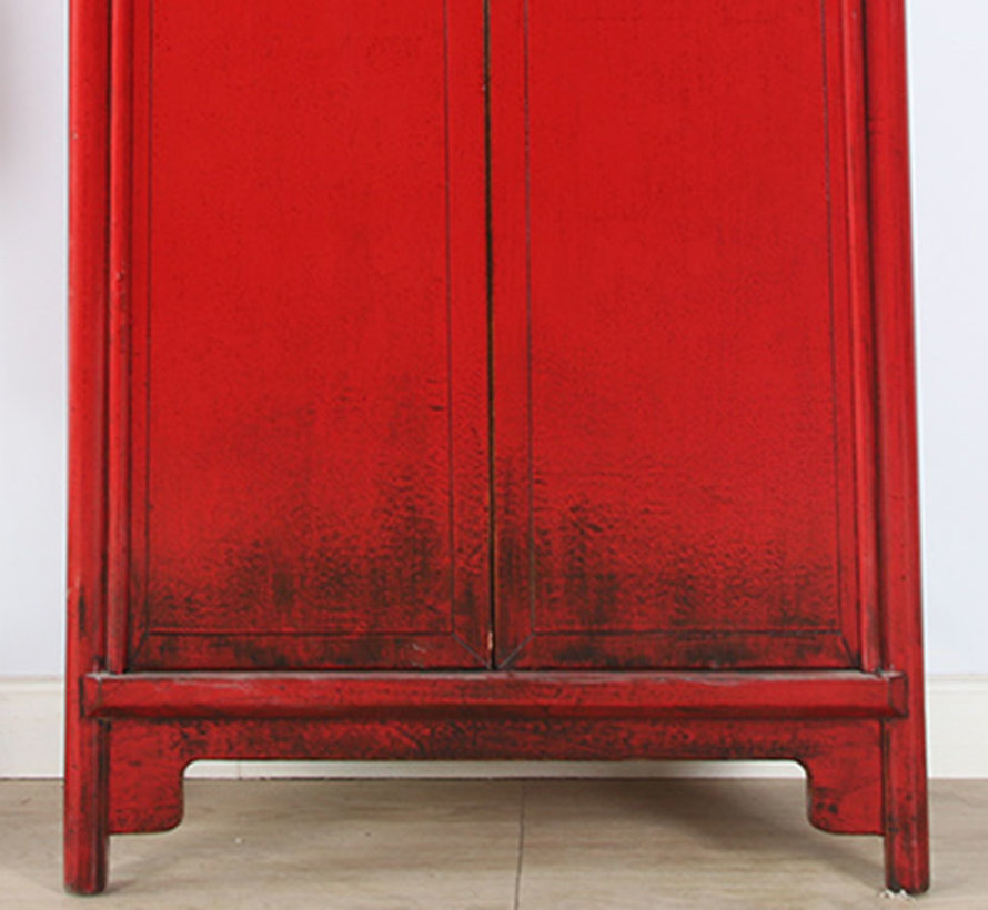 Chinesischer Hochzeitschrank 2 Türen rot