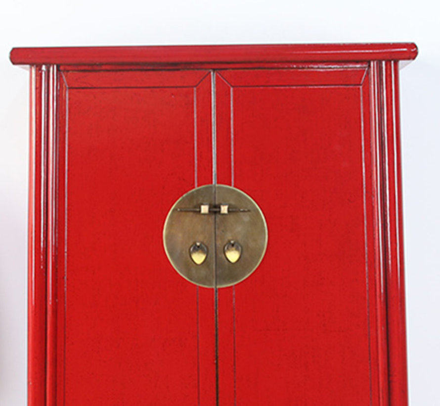 Chinese wedding cabinet 2 doors red