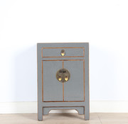 Yajutang Chinese chest of drawers bedside light grey