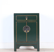Yajutang Chinese chest of drawers bedside fir green