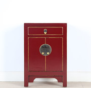 Yajutang Chinese chest of drawers bedside purple red