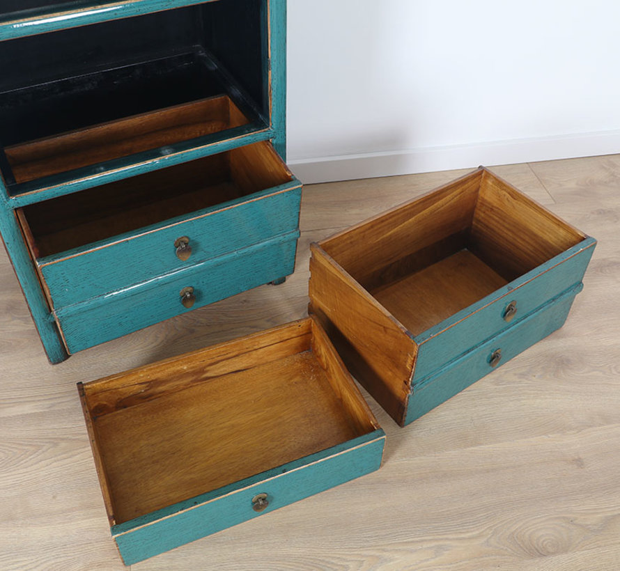 Chinese dresser Oriental / Asian style turquoise