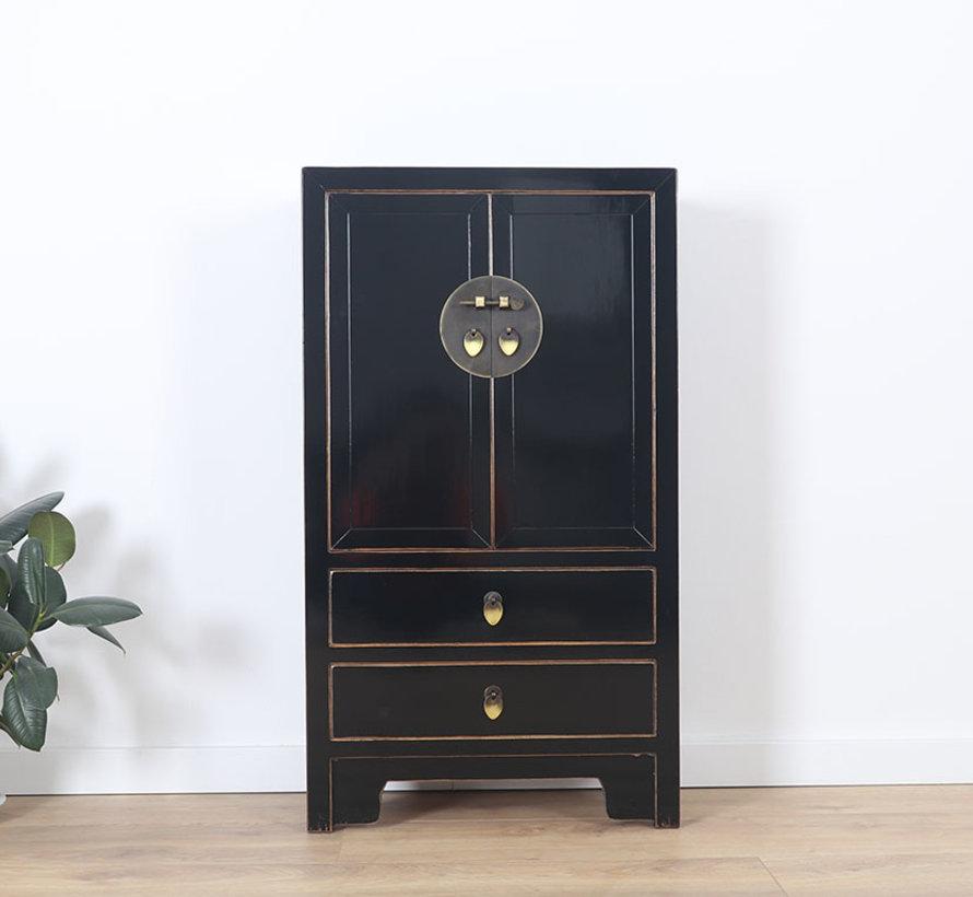 Chinese dresser sideboard 2 drawers 2 doors black