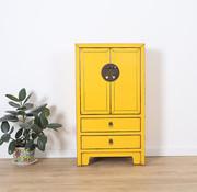 Yajutang Kommode 2 Schubladen 2 Türen gelb