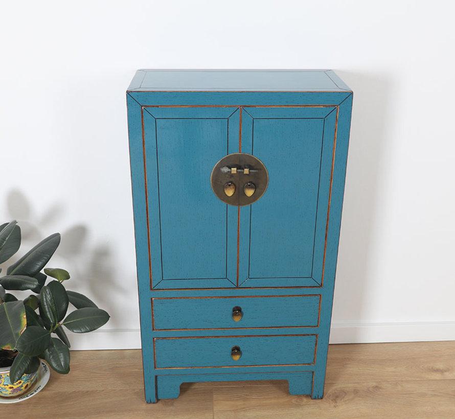 chinesische Kommode 28 cm Tief Orientalisch/Asiatisch Stil blau