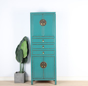 Yajutang Chinese wedding cupboard turquoise