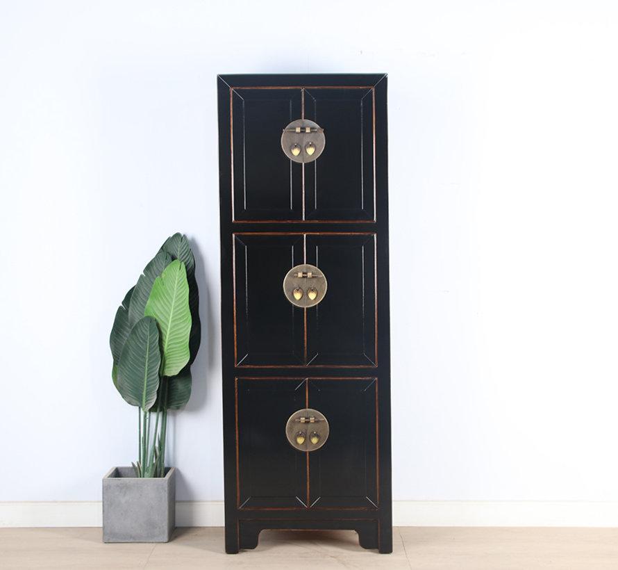 Chinese wedding cabinet 6 doors solid wood black