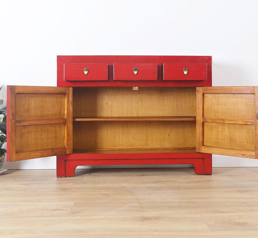 chinesische Kommode Sideboard Orientalisch/Asiatisch Stil rot